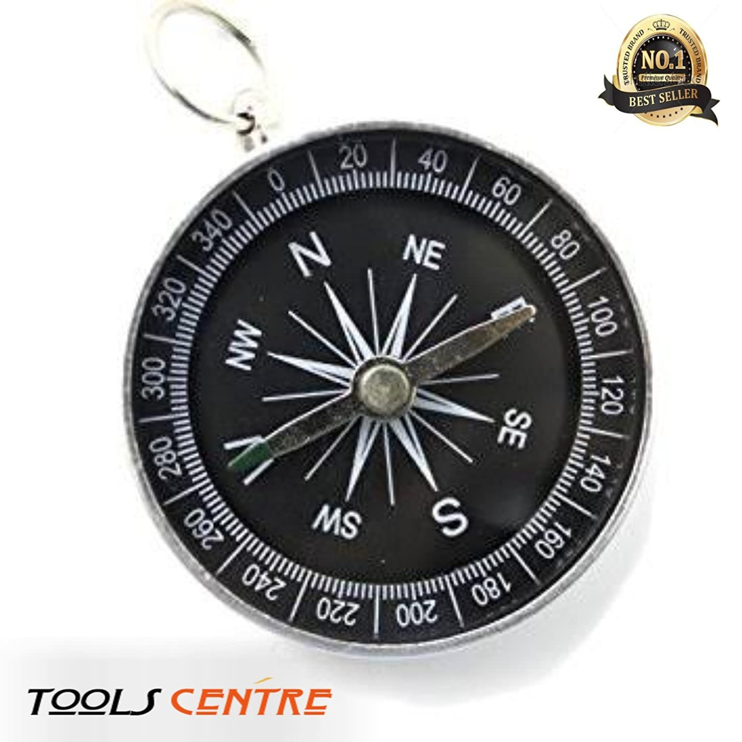 Tools Centre Lightweight Aluminum Camping travel Mini Compass Hiking Navigation (1)