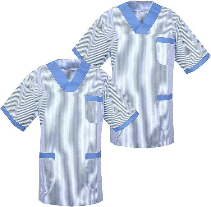 MISEMIYA - Pack*2 - Camisa Camisetas Unisex Uniformes LABORARES ESTÉTICA Dentista - Ref:T817