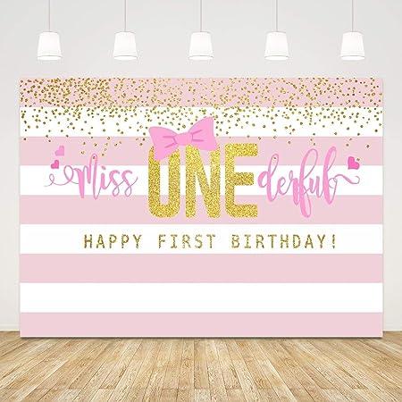 Hintergrund Zum 1 Geburtstag Für Mädchen Miss Kamera