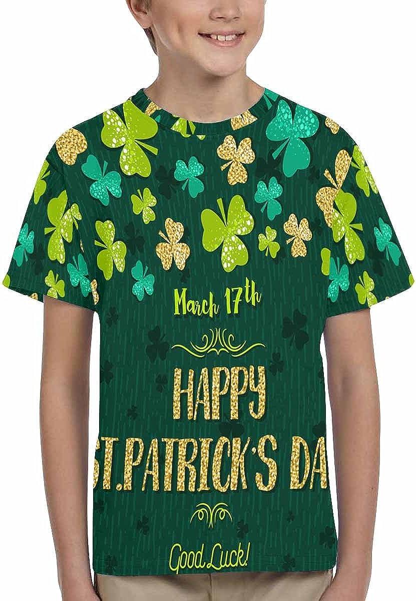 XS-XL INTERESTPRINT Good Luck Patricks Day Unisex Kids T-Shirts