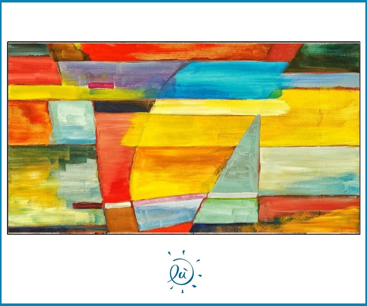 Modernes abstraktes Bild Kunstdruck auf Leinwand Handarbeit Bunt ...