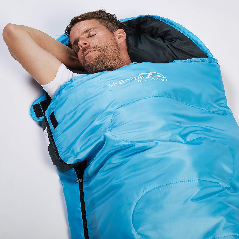 Reise Sommer skandika Schlafsack Skye 220 x 75 cm Camping Indoor Kompressionsack Trekking f/ür Erwachsene koppelbar Outdoor leicht