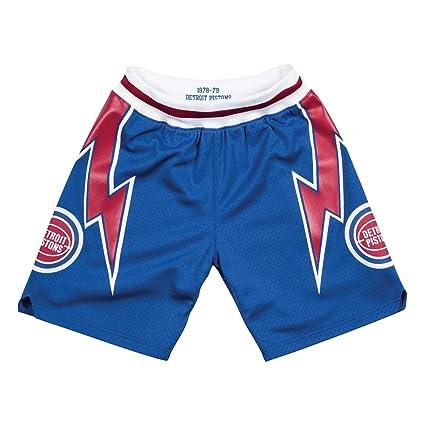 fa8ef875ec30 Mitchell   Ness Detroit Pistons 1978-79 Road Blue Authentic Shorts Men s