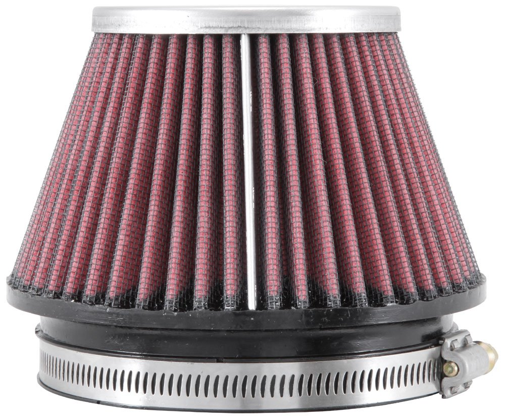 Top Height; 5.5 in 111 mm Flange ID; 3.313 in 84 mm 89 mm Base; 3.5 in 140 mm K/&N RC-9890 Universal Clamp-On Air Filter: Round Tapered; 4.375 in