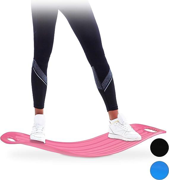Relaxdays Twist Board Planche d'équilibre Pratique pour Tout Le Corps Bleu Charge maximale 150 kg