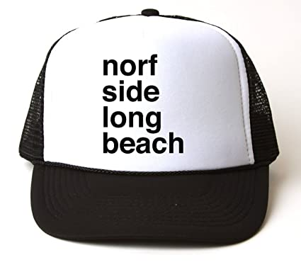 onetwotee Norf Side Long Beach Trucker Hat  Amazon.co.uk  Clothing 1ac910a8123a