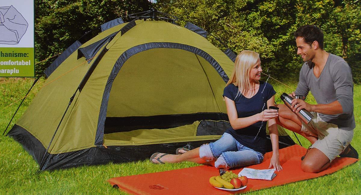 FUN CAMP Schnellaufbau Zelt Camping Outdoor Pop-Up Festival Sekundenzelt Iglu 230x140cm f/ür 2 Personen