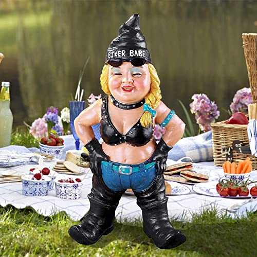 Biker Garden Gnomes Outdoor Funny Figurine Motorcycle Statue