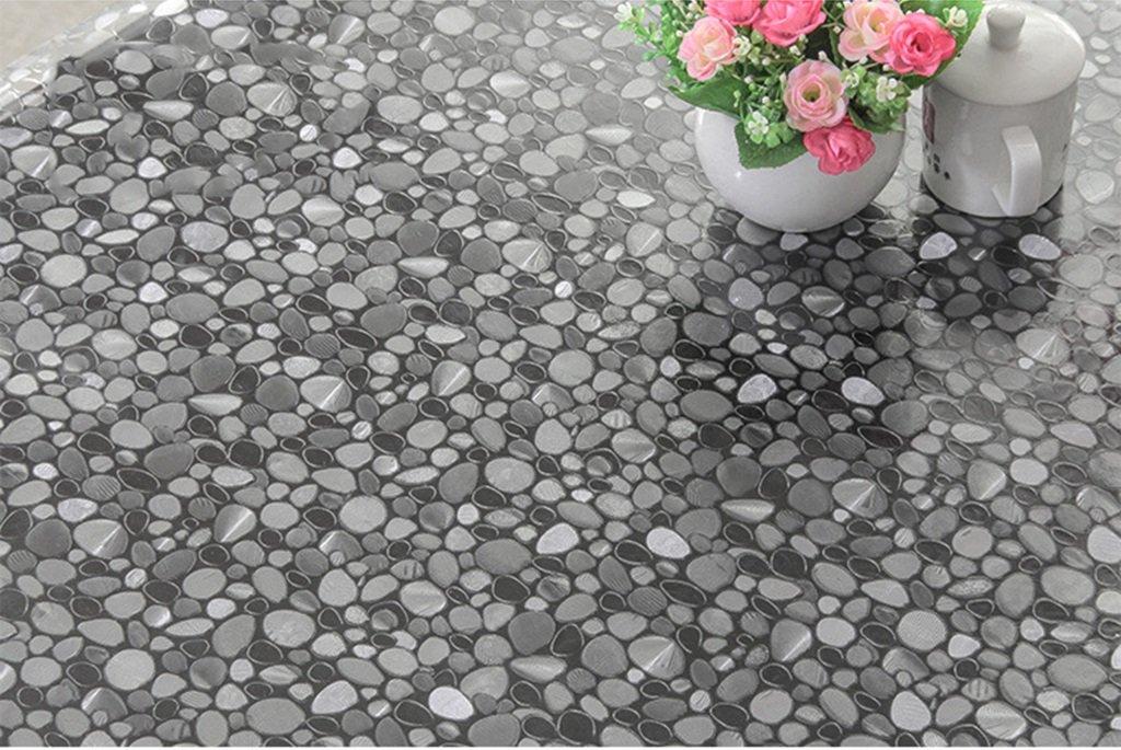 Nappe ronde en PVC [Nappe pour table ronde étanche] souple tapis ...