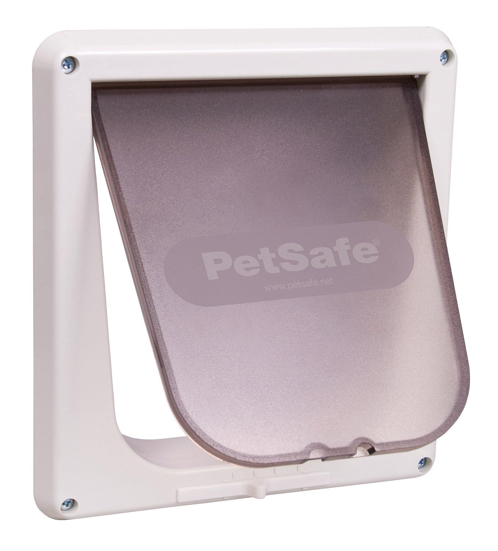 Amazon Petsafe Interior 4 Way Locking Cat Door White Pet Supplies