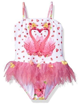7005295ec2a5d Amazon.com: Kate Mack Toddler Girls' Paradise Island Skirted Tank Swimsuit:  Clothing