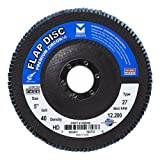 Mercer Industries 266040 Zirconia Flap Disc, High