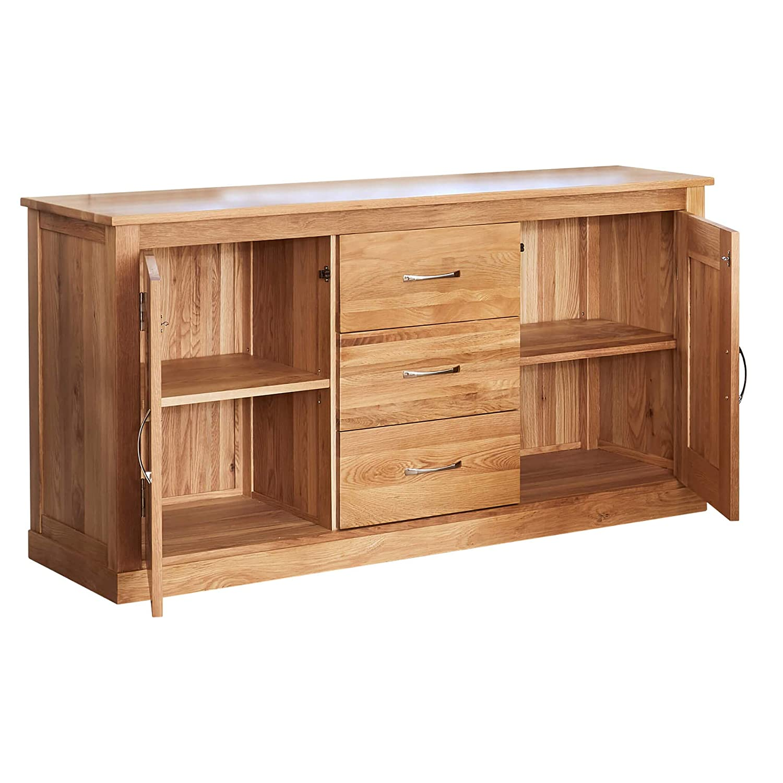 roseland furniture ltd mobel oak large sideboard amazon co uk kitchen home