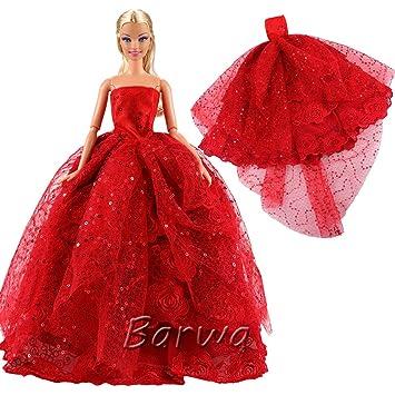 「Barwawa」バービー用 服 ドレス ドール用 きせかえ 人形 ドレス バービー人形 服 ドール