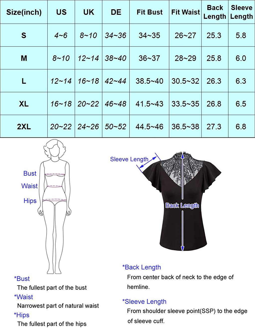 Women Goth Blouse Shirt Keyhole Mesh Bell Sleeve Gothic Witch Vampire Costume Tops