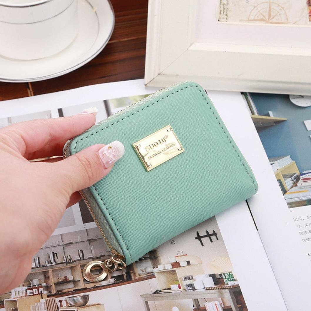 Hemlock Clutch Purse, Women Small Wallet Card Holder Zip Purse (Mint Green) by Hemlock (Image #3)