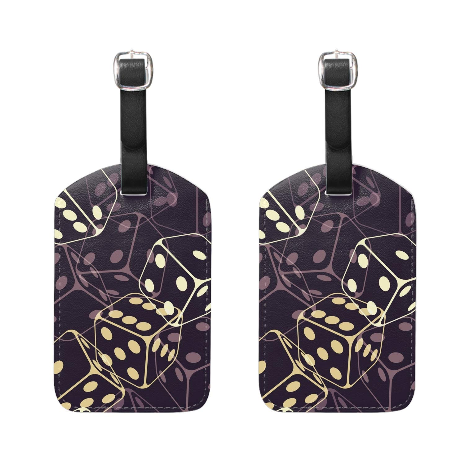 Set of 2 Blossom Of Daffodils Travel Luggage Tags for Suitcases|Baggage Tags PU Leather Luggage Tags|Suitcase Tags