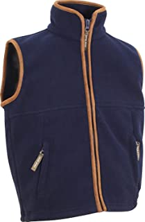 JACK PYKE Junior Kids Countryman Fleece Gilet (Medium, Navy Blue)