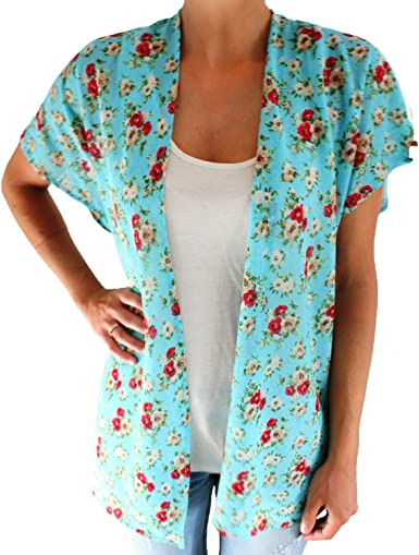BRANDELIA Blusón Kimono Rebeca Estampado Florecitas de Viscosa ...