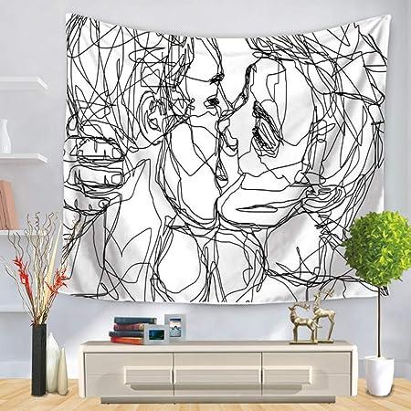 Pintura de línea decoración de Arte Tapiz Colgante de Pared ...