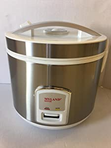 10 Cup Stainless Steel Inner Pot Rice Cooker ( Silver )