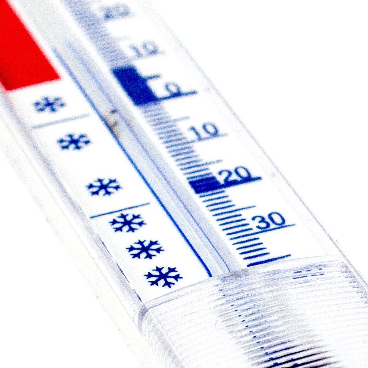 Eisschrank 40 /°C K/ühl Thermometer Analog und Quecksilberfrei Mit Haken aus Deutscher Herstellung Temperaturanzige Gefrierschrank // Lantelme 4 St/ück Set K/ühlschrank
