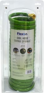 Flexon CH5825 Coil Garden Hose, 25ft, Green