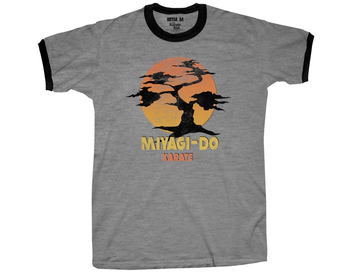 c2b4689fb Ripple Junction Karate Kid Miyagi-Do Adult T-Shirt Medium Heather Grey