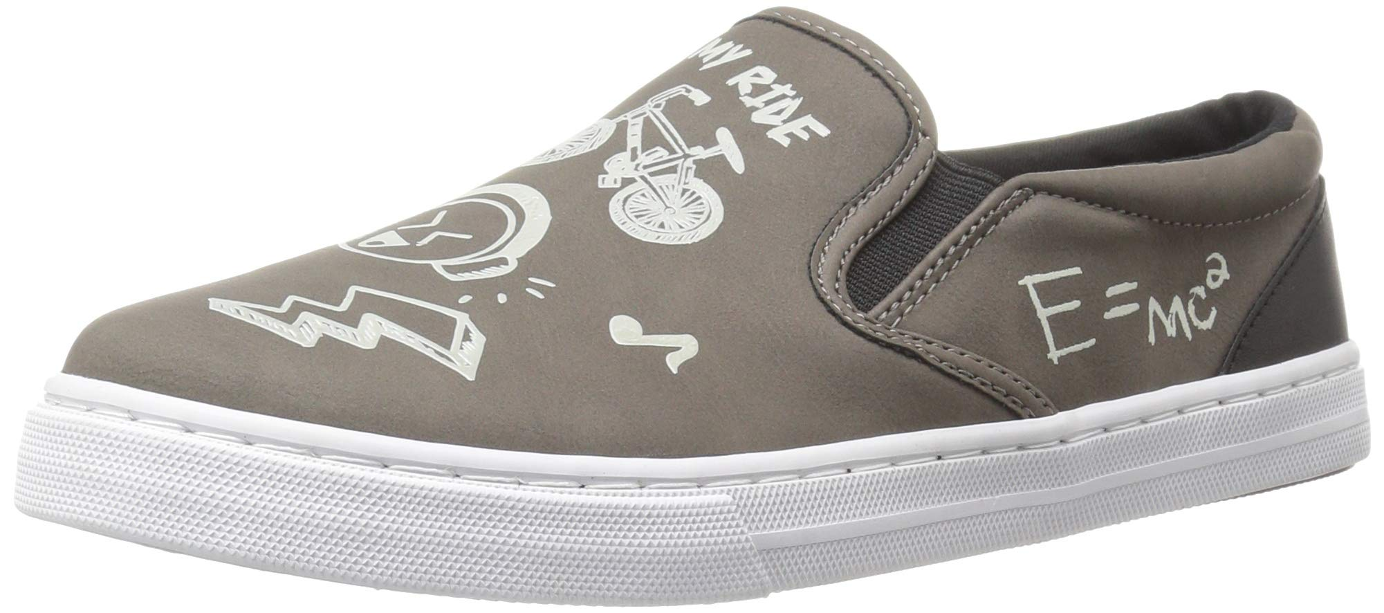 The Children's Place Boys' Slip Sneaker, Nordic Gray, Youth 11 Child US Little Kid