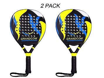 GRANDCOW Tennis Padel Paddle Pro Carbon Fiber Power Lite Pop EVA Foam Beach Paddle Tennis Paddleball Racket Racquets