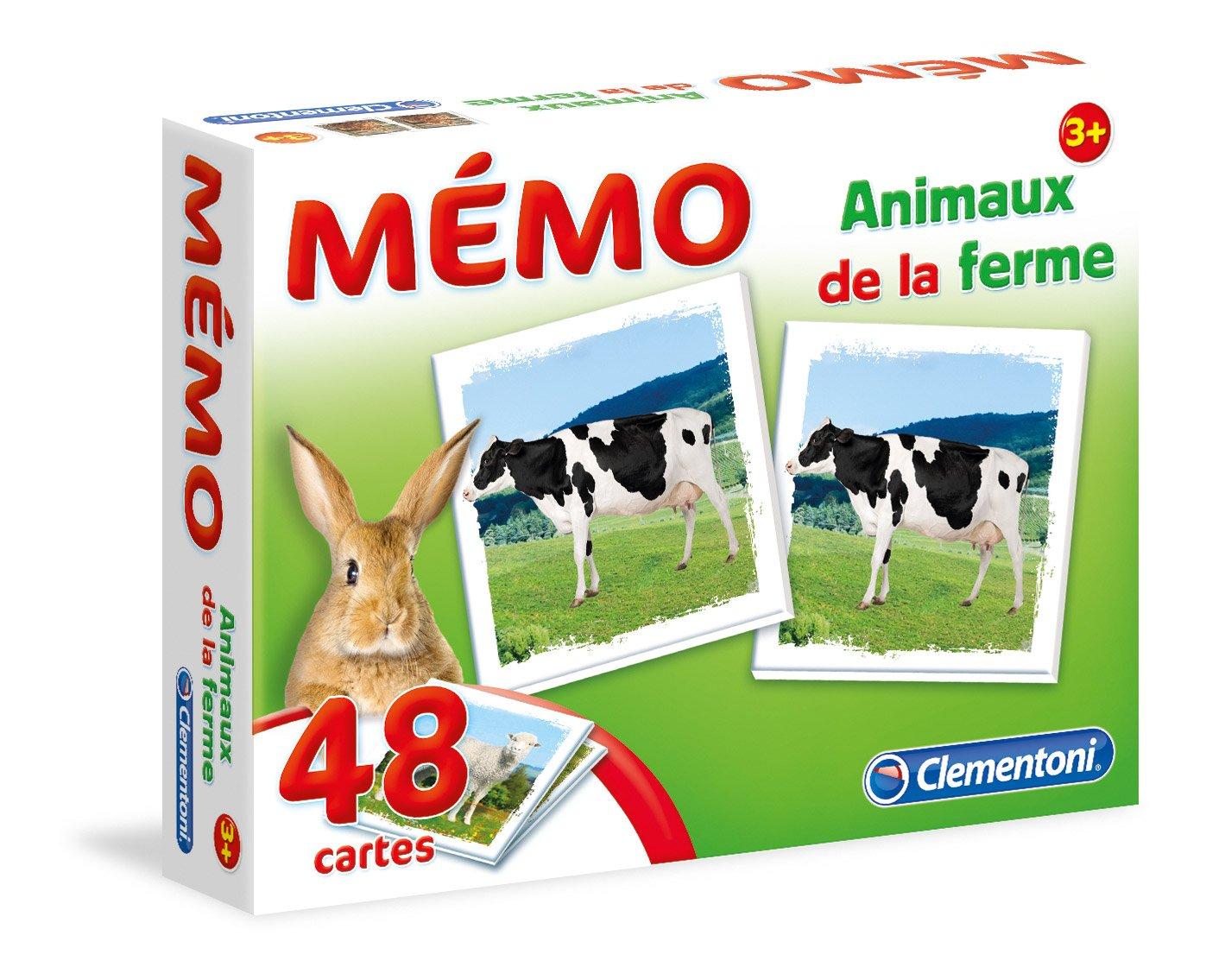 52292 /Juego educativo Clementoni Memo de animales de granja/