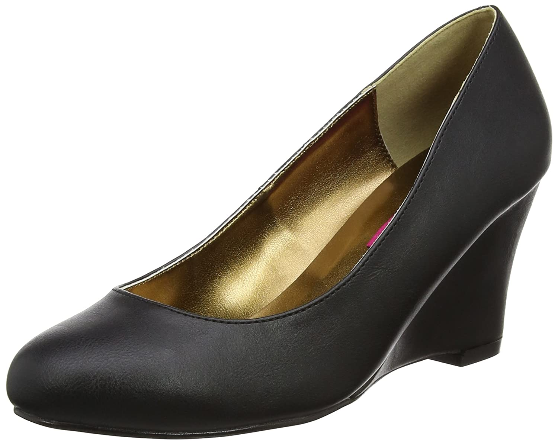 Pleaser Women's Kim08/Bpu Wedge Sandal B06XGMGDVY 15 B(M) US|Black Faux Leather