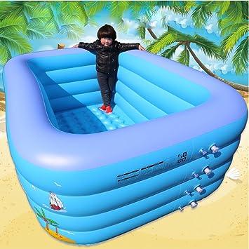 LZTET Rechteckige Aufblasbare Familien-Pool-Badewannen ...