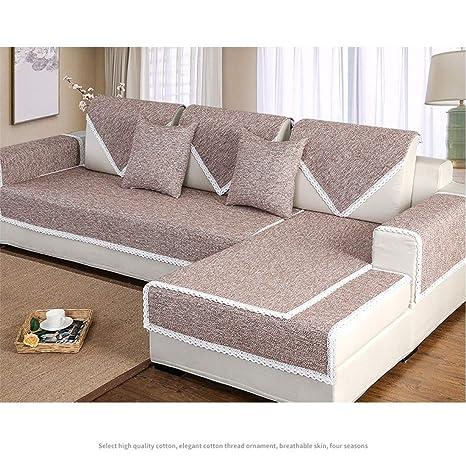 YUMUYMEY Cojín Simple de sofá de Color sólido Cojín Tejido ...