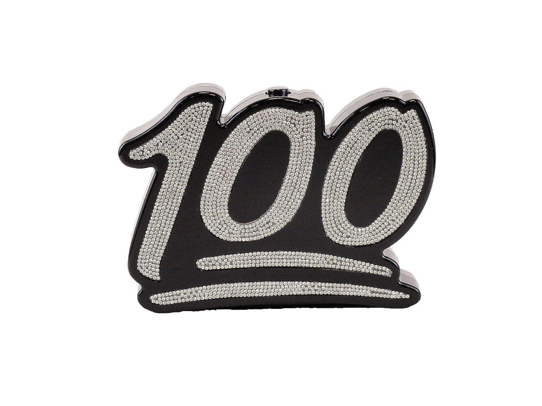 Hearty trendy 100 emoji rhinestone clutch bag blacksilver hearty trendy 100 emoji rhinestone clutch bag blacksilver handbags amazon buycottarizona