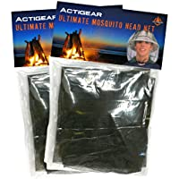 ActiGear Head Net Mesh Pack of Two Protective Cover Mask Face from Insect Bug Bee Mosquito Gnats for Any Outdoor Camping…