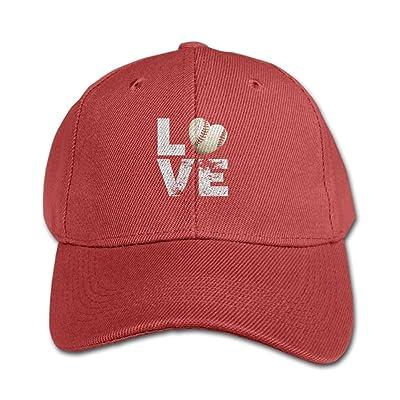 BrandonH1udson Children Love Baseball Particular Unisex Caps Black