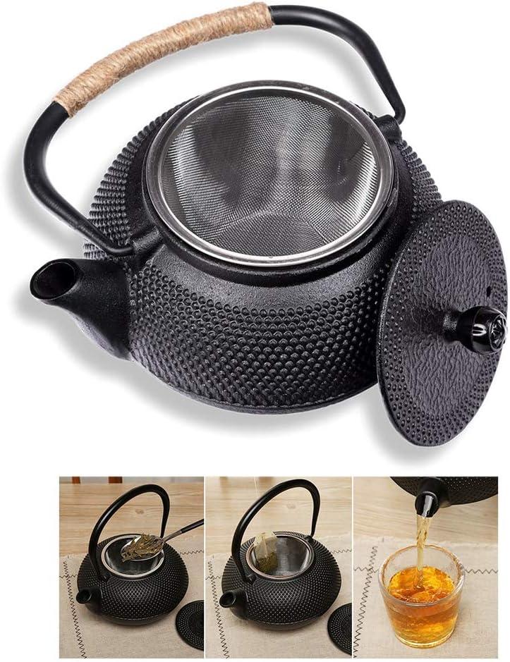 Hihey Tetera Japonesa Hierro Fundido con colador de té para el Bebedor de té. Tetera de Acero Inoxidable como un Gran Regalo