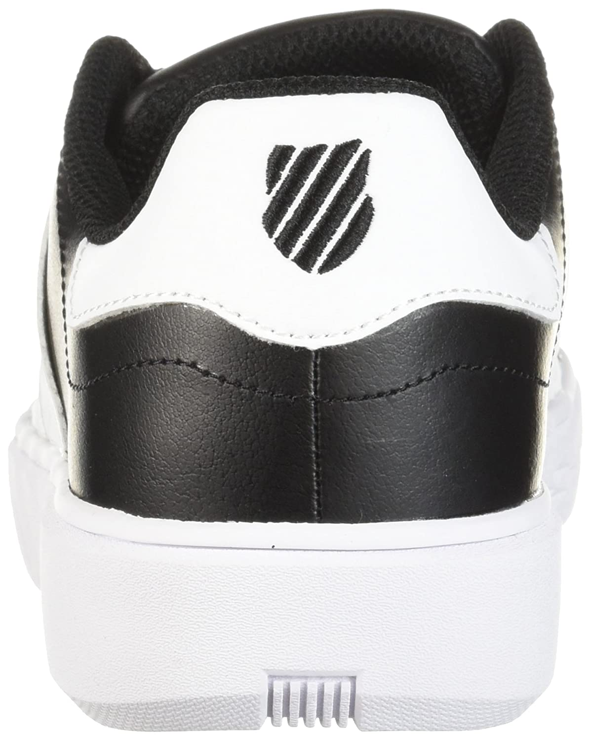 K-Swiss Women's Pershing Court CMF Sneaker B073WR1KHJ 8 B(M) US|Black/White
