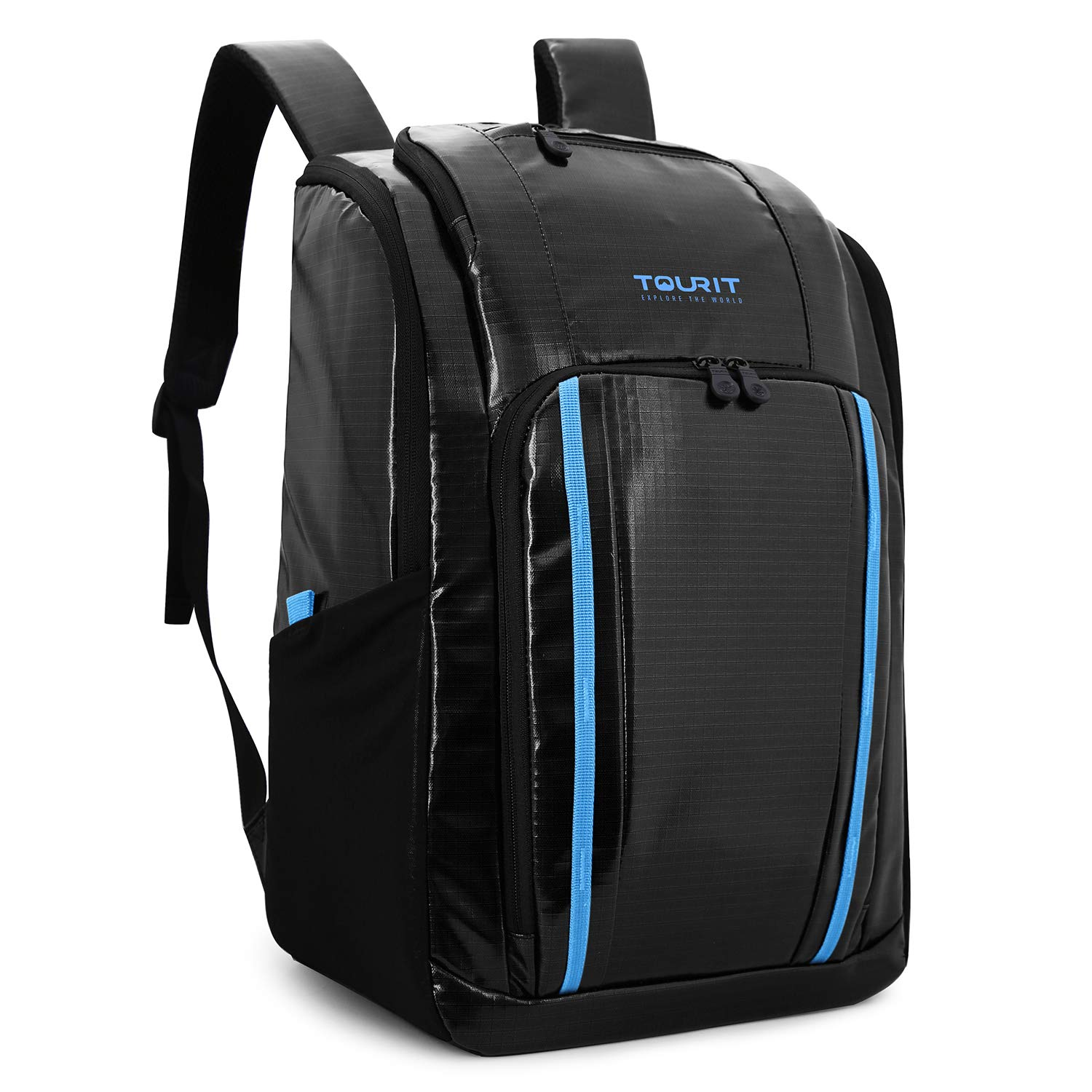 TOURIT Cooler Backpack Insulated Leakproof Backpack Cooler Soft Cooler with Waterproof TPU Material for Lunch, Picnic, Hiking, Camping, Beach, Park or Day Trip, 32 Cans, Black