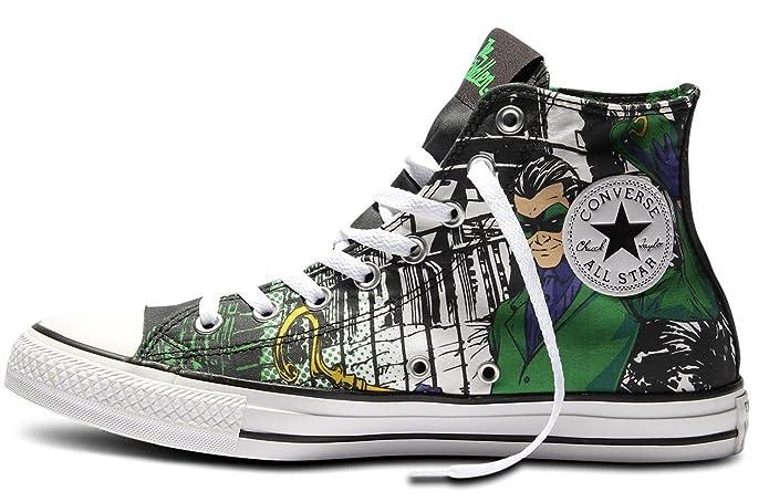 f0d8c44df78b Converse Unisex All Star Hi Riddler Sneaker CT HI SHOES DC COMICS 148914C  (5.5 Men Women 7.5)  Amazon.co.uk  Shoes   Bags