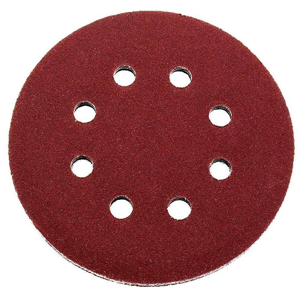 dischi abrasivi per orbitale Tritatutto 8 foro 100 pezzi dischi abrasivi /Ø 125 mm Grana 180