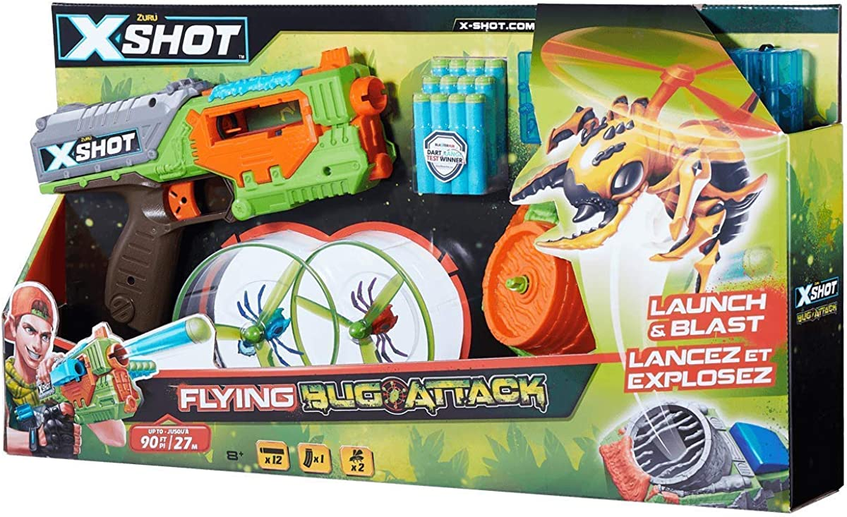 X-SHOT Bug Attack Swarm Seeker Take Down Real Flying Targets With The X-Shot Fly