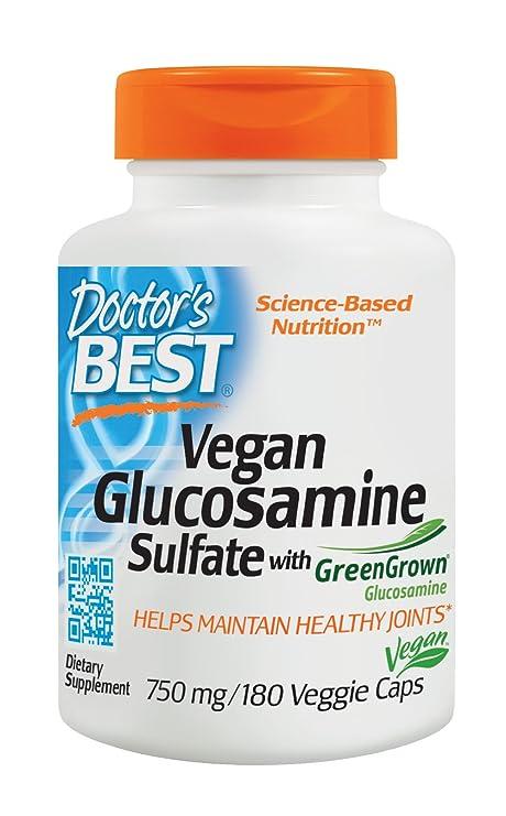 Doctors Best - Sulfato del Glucosamine de Vegan con el magnesio del Glucosamine 750 de GreenGrown