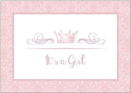 It`s a Girl - Tarjeta de felicitación de nacimiento para ...