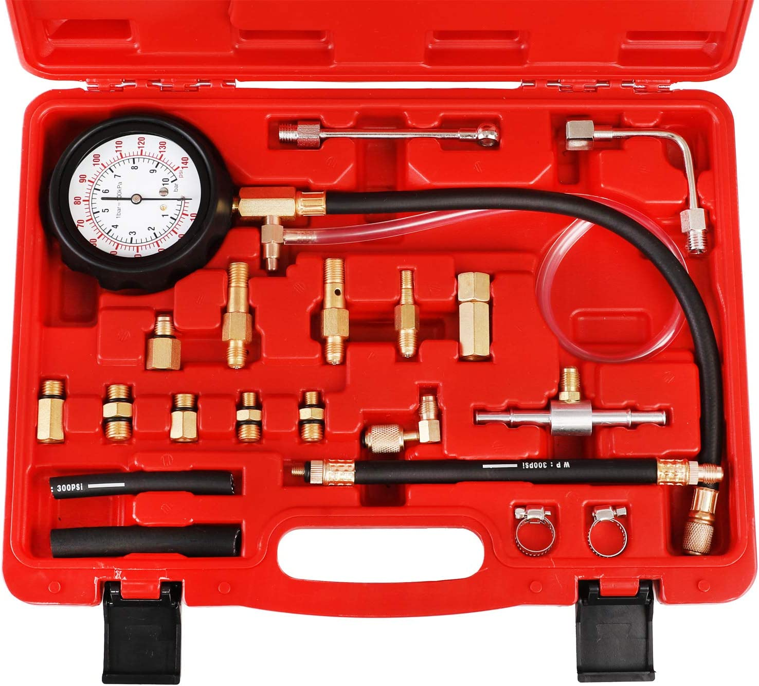 Car Fuel Pressure Test Tool Fuel Injection Pump Tester Diesel Pressure Gauge Kit Fuel Pressure Gauge Kit