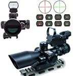 AOTOP Tactical Riflescope with Red/Green Laser