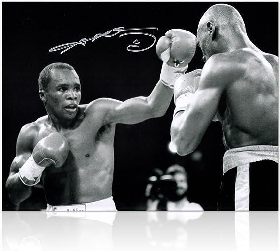 Sugar Ray Leonard Boxeo Firmado Foto: sorpresa de la Década: Amazon.es: Deportes y aire libre