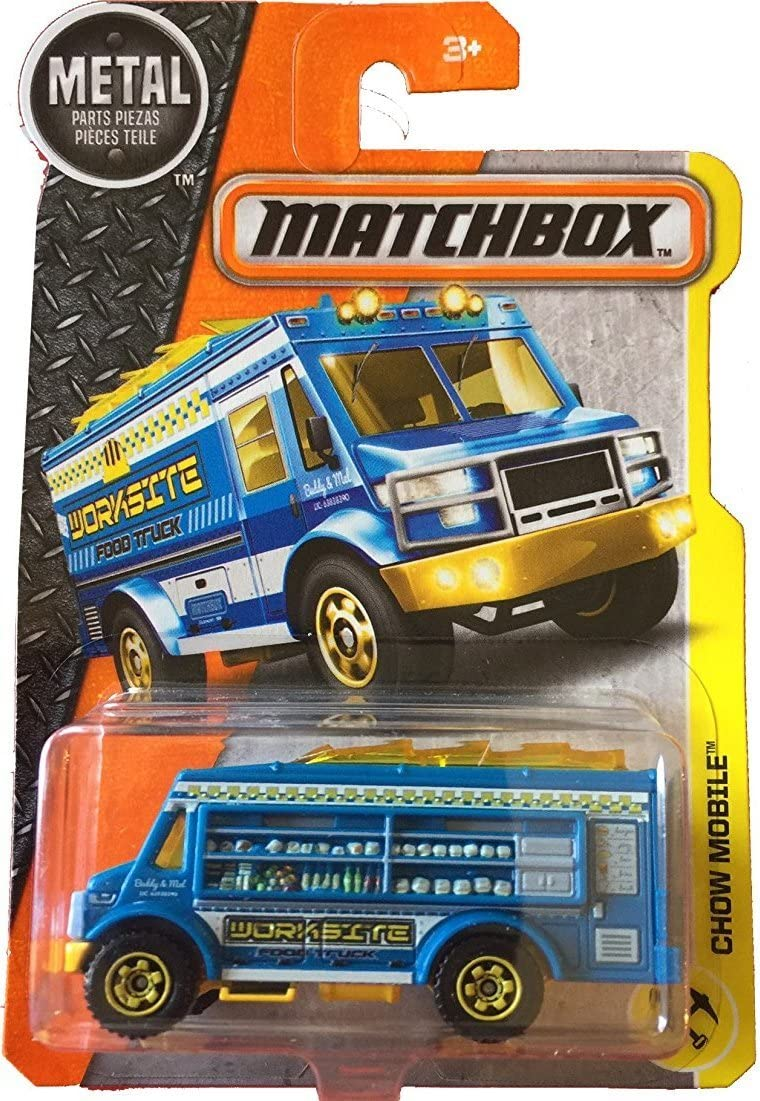 Matchbox 2017 Chow Mobile Worksite Food Truck Blue