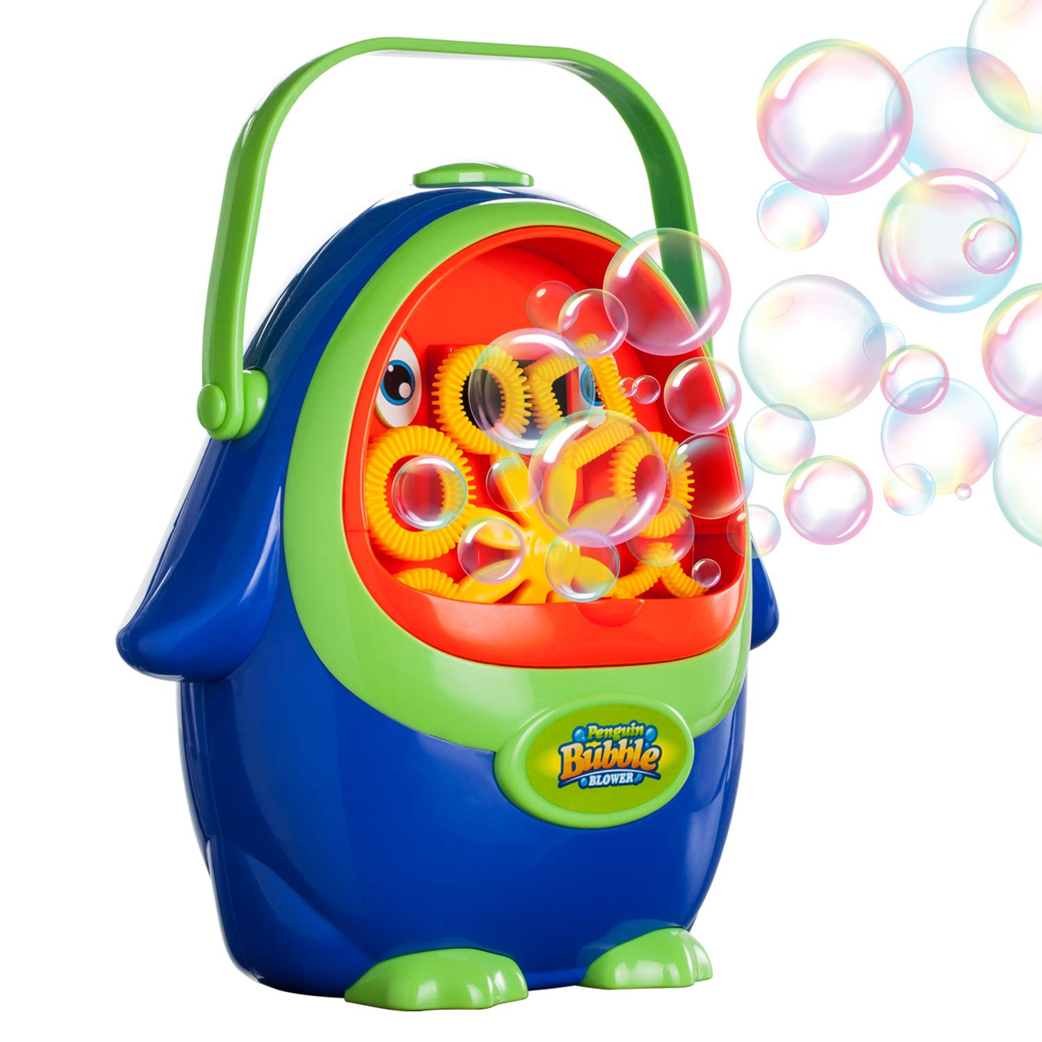 Vtopmart Automatic Bubble Blower Machine with Bubble Solution for Kids Toddlers, Penguin Bubble Maker for Party, Wedding, Outdoor Indoor Games, Battery Operated (Not Included)